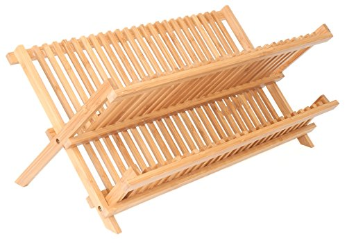 DN Racks 2-Tier Bamboo Dish Drying Rack (Portable Dish Drying Rack compare prices)