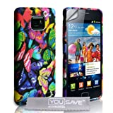 Samsung Galaxy S2 Multicoloured Butterfly Silicone Caseby Yousave Accessories