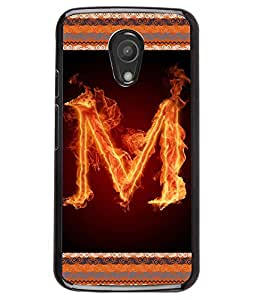 Fuson 2D Printed Alphabet M Designer back case cover for Motorola Moto G2 - D4202
