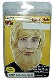 Self Adhesive Full Beard with Mustache Costume Set, Blonde