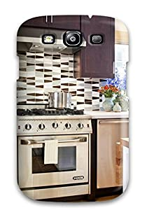 cover stainless steel stove with blue and brown backsplash protector