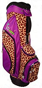 Birdie Babe Womens Golf Bag Purple Leopard Ladies Hybrid Golf Bag