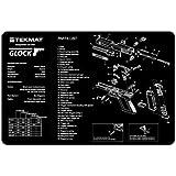 TekMat 11-Inch X 17-Inch Handgun Cleaning Mat with Glock Imprint, Black