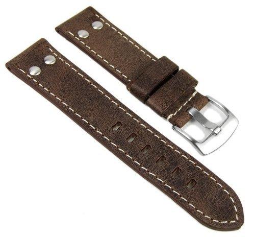 Eichmüller Ersatzband Uhrenarmband Vintage Look Leder Band 22mm 756-22MM
