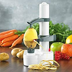 Electric Potato Peeler Automatic Pear Apple Fruit Cutter Slicer Kitchen Utensil