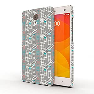 Koveru Designer Printed Protective Snap-On Durable Plastic Back Shell Case Cover for Xiaomi Mi 4 - Ladders