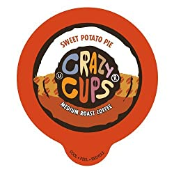 Crazy Cups Sweet Potato Pie Flavored Coffee Single serve Cups for Keurig K cup Brewer