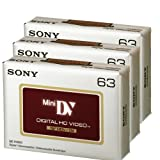 Sony DVC HD 63 Minute Videocassette - 3 Pack (Discontinued by Manufacturer) ~ Sony