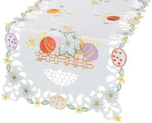 Xia Home Fashions Country Egg Table Runner, 16 by 34-Inch