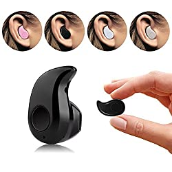 Mini Stylish Invisible Wireless Bluetooth Earpiece Headphone, Headset, Earphone, Handsfree In Ear With Mic V4.0 For All Smartphones Like Lenovo, Samsung, Le Tv, Asus, Coolpad By LOYO (Color May Vary)