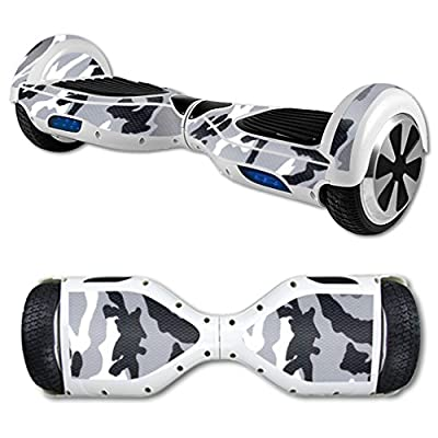 MightySkins Protective Vinyl Skin Decal for Hoverboard Self Balancing Scooter mini hover 2 wheel unicycle wrap cover sticker Gray Camo