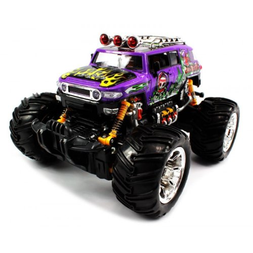 Big Size Quality Electric Full Function 1:16 Grave Digger Toyota Fj Cruiser Monster Rtr Rc Truck (Colors May Vary) Quality Remote Control Rc Trucks W/ Working Suspension
