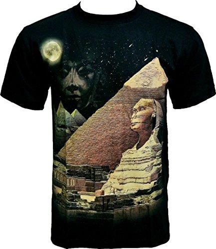 Rock-Chang-Camiseta-Cuello-redondo-manga-34-para-hombre-Negro-negro