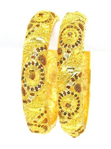 Fashioncart Gold Plated Bangles (yellow)