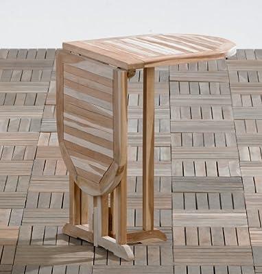 Ambientehome SSV Butterflytisch oval 110 x 50 cm Gartentisch Teaktisch Klapptisch Beistelltisch Holztisch von Ambientehome auf Gartenmöbel von Du und Dein Garten