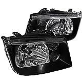 Spec-D Tuning LH-JET99JM-RS Volkswagen Jetta Black Crystal Head Lights W/Drl Fog Lamps Pair