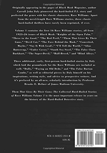 Them That Lives by Their Guns: Race Williams Volume 1