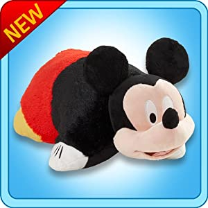 "Pillow Pets® - Mickey Mouse - Authentic Disney® 18"" Large Folding Plush Pillow from CJ Company"