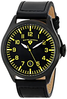 """buy Swiss Legend Men'S 30331-Bb-01-Ya """"Pioneer"""" Stainless Steel Watch With Black Leather Band"""