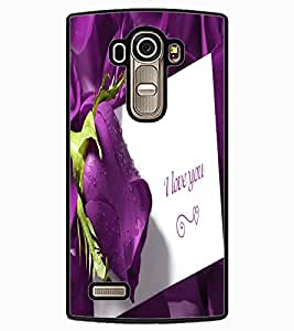 ColourCraft Love Quote with Flower Design Back Case Cover for LG G4