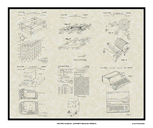 Computer Patent Collection Art | Software Programmer Print Wall Art Gift