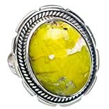 African Green Opal, Argent Sterling 925 Bague 6