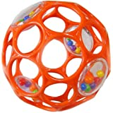 Rhino Toys 4-Inch Oball Rattle (Orange)