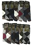 Royal Classic Mens Argyle Dress Casual Socks Cotton Blend Assortment Variety. 12 Pair. 10-13.