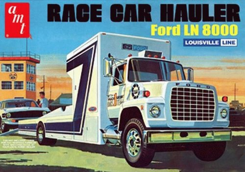 AMT758 AMT - Ford LN 8000 Race Car hauler by B2B Replicas (Amt Model Kits compare prices)