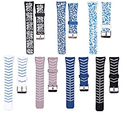 ZHUOZZ Samsung Gear S2 Watch Band Soft Silicone Replacement Sport Band for Samsung Gear S2 Smart Watch (7PCS)