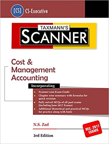 Scanner Cost & Management Accounting CS Executive December 2017 Exams