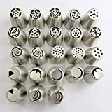 TANGCHU Russian Piping Tips 23PCS/SET Stainless Steel Large Size Icing