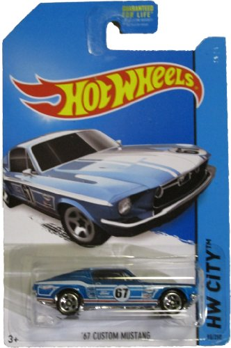 Hot Wheels 2014 Mustang 50th Hw City Blue '67 Custom Ford Mustang 98/250