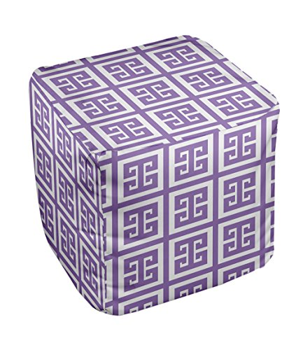 E by design Geometric Pouf, 13-Inch, Heather - 1