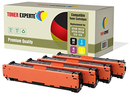 4er Set TONER EXPERTE® Premium Toner kompatibel zu HP 131X/131A CF210X CF211A CF212A CF213A für HP LaserJet Pro 200 Color M251N, M251NW, MFP M276N, MFP M276NW