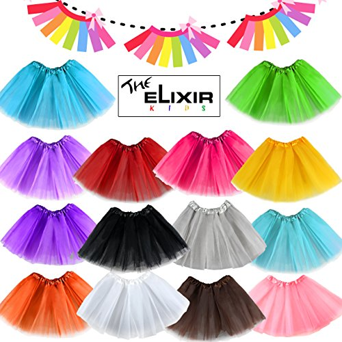 Girls Tutu Dress 2~8years Girls, Dance Ballet Tutu Skirts, Various Colors