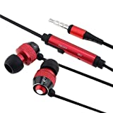 Red In-Ear Bud Headphone Compatible with iPod touch 2G iPhone 4S - AT&T Sprint Version 16GB 32GB 64GB + Mic