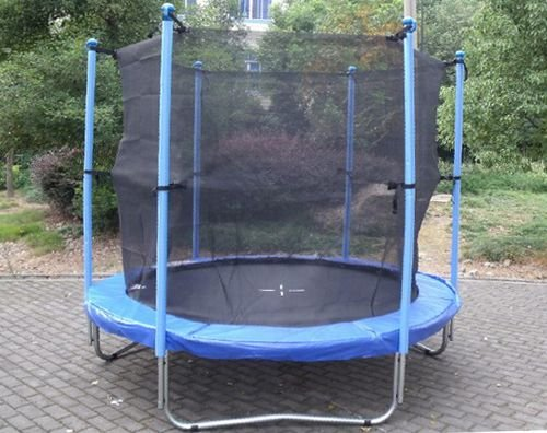 8FT Trampoline Set Includes Safety Net Enclosure worth £49.99 All Weather Cover worth £19.99 TUV GS EN-71 CE Certified RRP £299.99 Total Saving £180 Off the Package