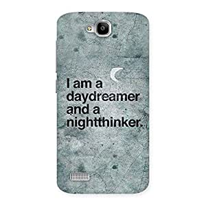 Premium Knight Thinker Multicolor Back Case Cover for Honor Holly