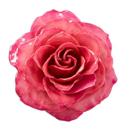 Lacquer Dipped Fuchsia Rose Brooch