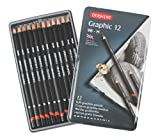 Derwent Graphic Drawing Pencils, Soft, Metal Tin, 12 Count (34215)