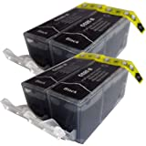 4 Large Black CiberDirect Compatible Ink Cartridges for use with Canon Pixma MG6250 Printers. Replaces PGI-525 BK.