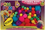 Pepperell Assorted Pom Poms, Hot Colo...