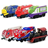 Chuggington StackTrack Toy Train Set 6pk Brewster, Wilson, Koko, Asher, Old Puffer Pete, Jackman