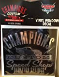 Disney Parks CALIFORINA ADVENTURE Champions Custom Speed Shop Radiator Springs Window Decal - Disney Parks Exclusive & Limited Availability