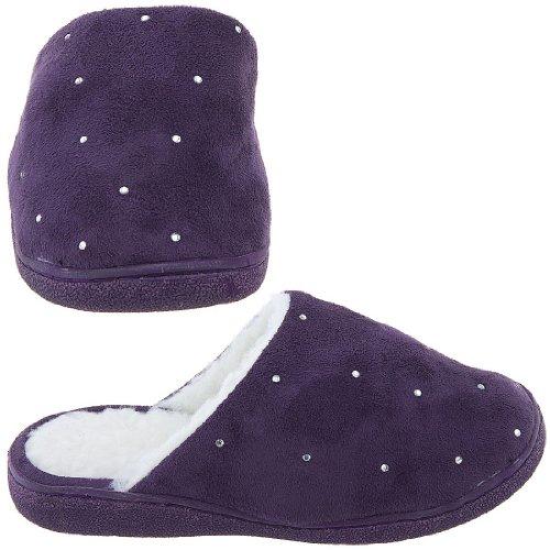 Cheap Harve Benard Purple Rhinestone Slippers for Women (B006CVRWO8)