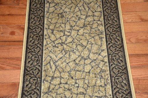 Dean Flooring Company Dean Washable Carpet Rug Runner Garden Path Gold And Br
