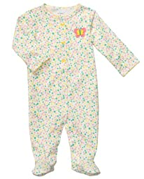 Carter\'s Baby Girls\' Carter\'s Sleep N Play - Floral Yellow - 9 Months