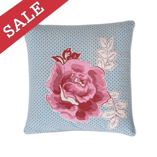 Modern Living Abigail Rose Applique Decorative Pillow, 16 By 16-Inch front-892346