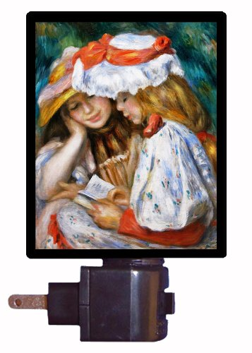 Old Masters Night Light - Two Girls Reading - Renoir Led Night Light front-186273